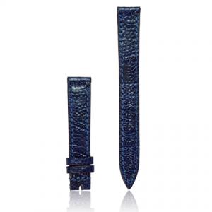 dây đồng hồ da đà điểu size 14 xanh dương