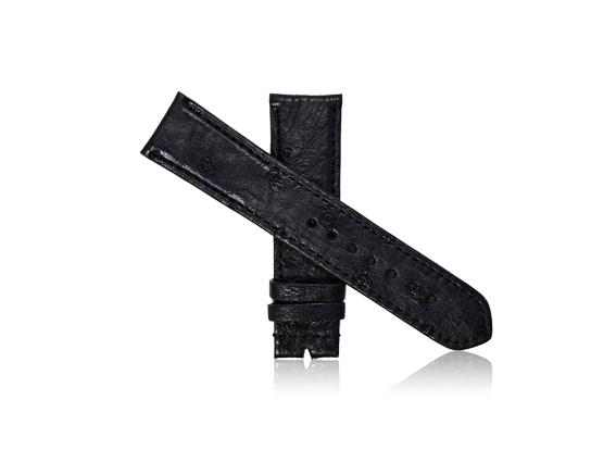 dây đồng hồ da bụng đà điểu size 22 đen