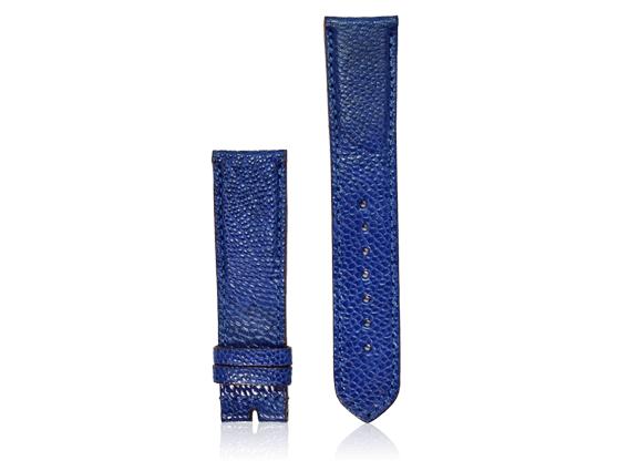 dây đồng hồ da đà điểu size 22 xanh dương