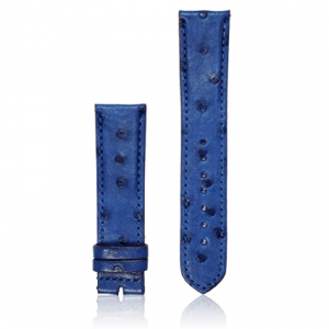 dây đồng hồ da bụng đà điểu size 22 xanh