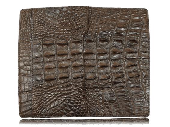Ví dài da cá sấu Luvin nâu