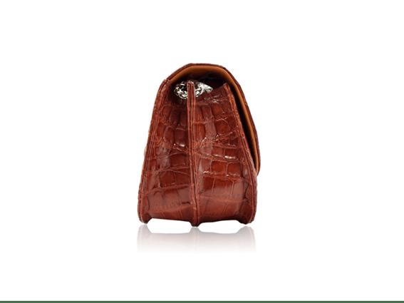 Túi xách da cá sấu Catsa nâu đỏ