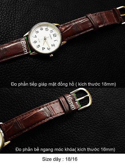 dây đồng hồ da bò - da cá sấu - da trăn - da đà điểu