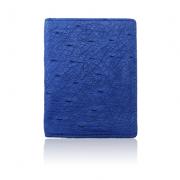 Ví nhỏ da đà điểu Tihan xanh dương