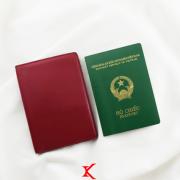 Ví passport da bò Pali đỏ