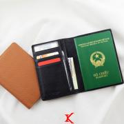 Ví passport da bò Panit đen