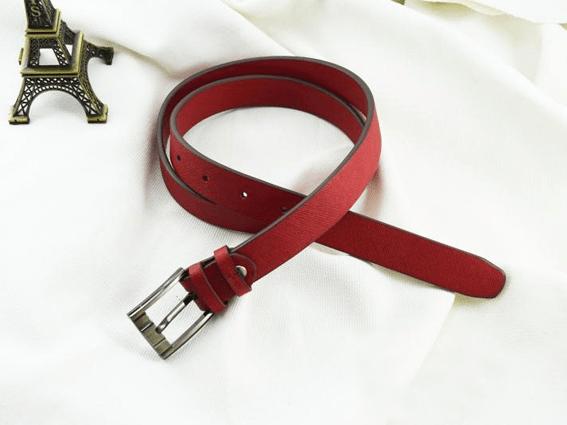 Dây nịt nữ da bò Numa 2.5 đỏ