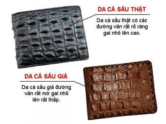 Phân biệt sản phẩm da cá sấu thật và sản phẩm da cá sấu giả