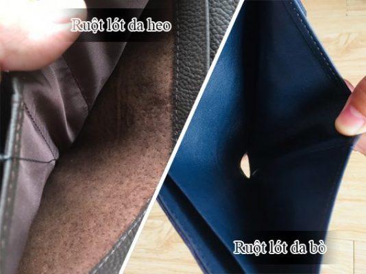 Sự khác biệt giữa lót da heo và lót da bò