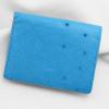 Ví nhỏ da đà điểu Tihan xanh biển