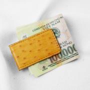 Kẹp tiền da đà điểu Ruvan 2