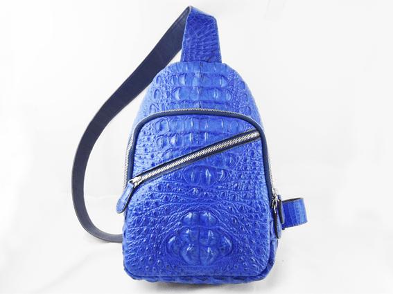 Túi đeo da cá sấu Damrey xanh dương
