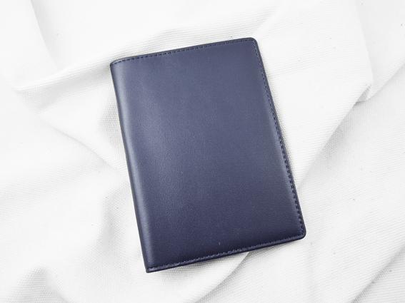 Ví passport da bò Panit T1 xanh dương