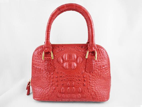 Túi xách da cá sấu Sofia đỏ