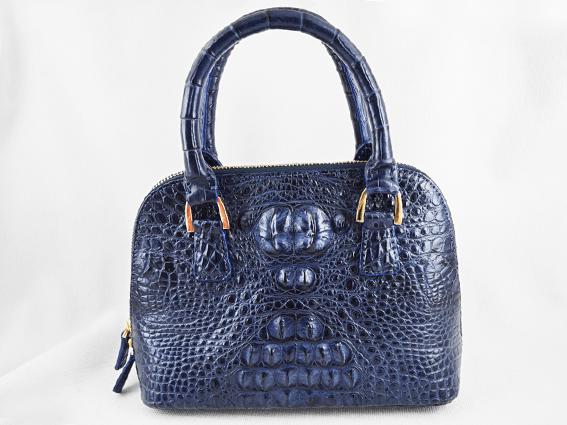 Túi xách da cá sấu Sofia xanh dương