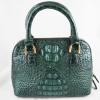 Túi xách da cá sấu Sofia xanh lá