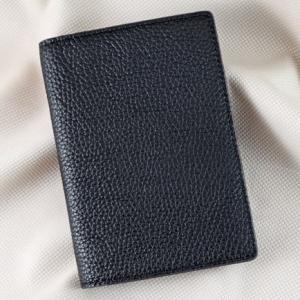 Ví passport da bò Pila đen