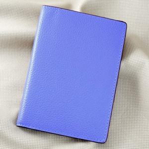 Ví passport da bò Pila xanh dương