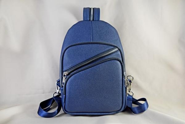 Túi đeo chéo da bò Hida xanh dương