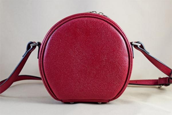 Túi đeo da bò Epsom Moon đỏ
