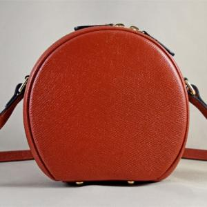 Túi đeo da bò Epsom Moon cam