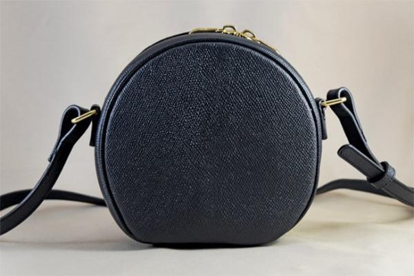 Túi đeo da bò Epsom Moon xanh đen