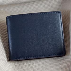 Bóp nam da bò Fonix 2 size nhỏ xanh đen