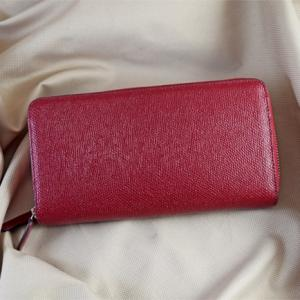 Clutch cầm tay da bò Epsom M5 đỏ