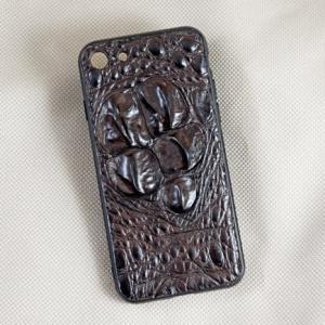 Ốp lưng da cá sấu Iphone 7 gù nâu