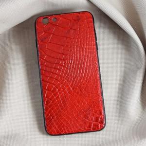 Ốp lưng da cá sấu Iphone 6 Plus đỏ