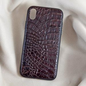 Ốp lưng da cá sấu Iphone XR nâu