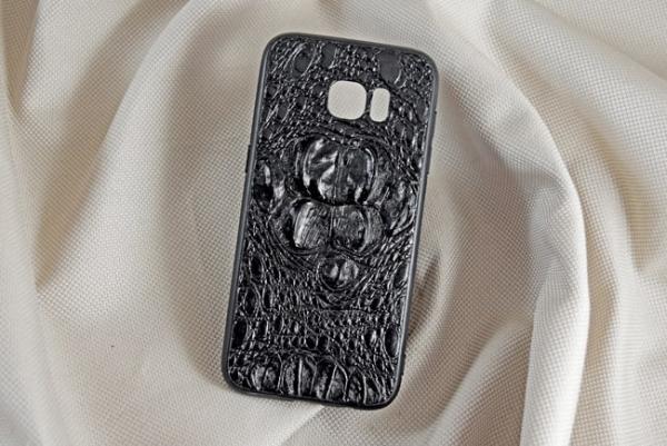 Ốp lưng da cá sấu Samsung S7-EDGE gù đen