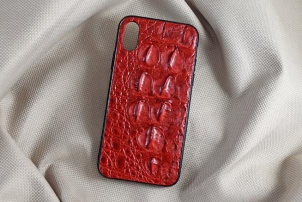 Ốp lưng da cá sấu Iphone X/XS đỏ