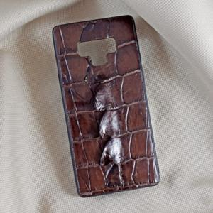 Ốp lưng da cá sấu Samsung Note 9 nâu