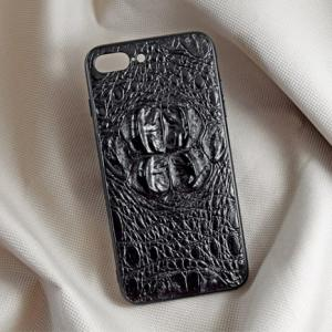 Ốp lưng da cá sấu Iphone 7 Plus gù đen