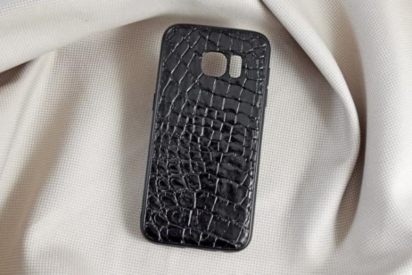 Ốp lưng da cá sấu Samsung S7 đen