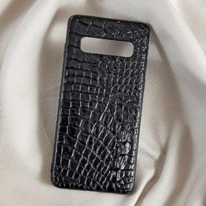 Ốp lưng da cá sấu Samsung S10 đen