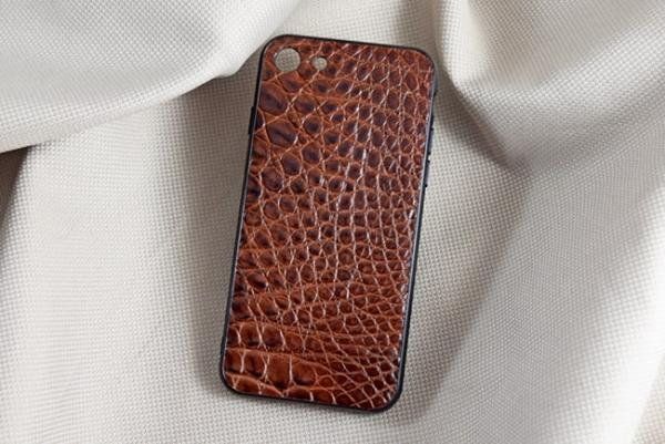 Ốp lưng da cá sấu Iphone 7 nâu đỏ
