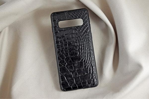 Ốp lưng da cá sấu Samsung S10 đen 2