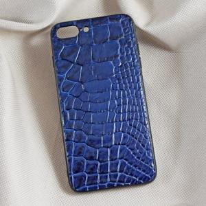 Ốp lưng da cá sấu Iphone 7 Plus xanh dương