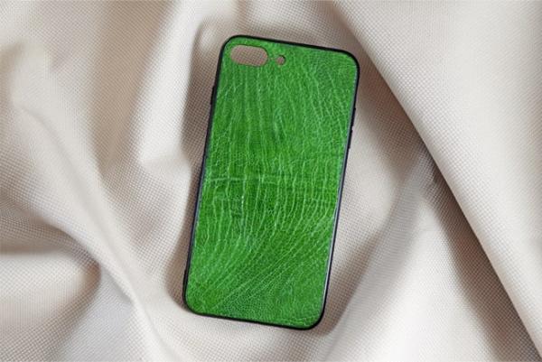 Ốp lưng da đà điểu Iphone 7 Plus xanh lá