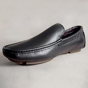 Giày nam da bò 673 đen