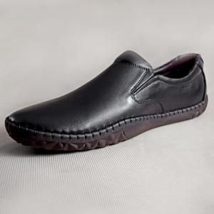 Giày nam da bò 680 đen
