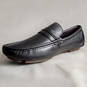 Giày nam da bò 672 đen
