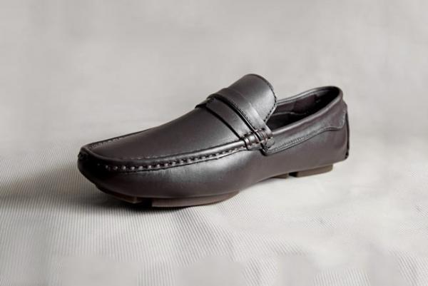 Giày nam da bò 672 nâu