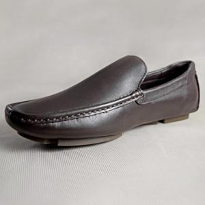 Giày nam da bò 673 nâu