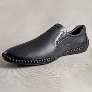 Giày nam da bò 688 đen