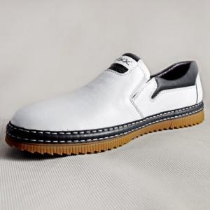 Giày nam da bò 638 trắng