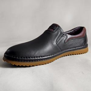 Giày nam da bò 638 đen