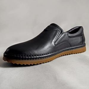 Giày nam da bò 640 đen